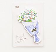 cheap -1 PC Bouquet of Flowers Self-Stick Note Set(Random Color) For School / Office