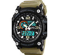 SKMEI Men's Sport Watch Military Watch Wrist watch Japanese Digital LED Calendar Chronograph Water Resistant / Water Proof Three Time