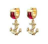 cheap -Women's Stud Earrings Drop Earrings Rhinestone Fashion Personalized Stainless Steel Rhinestone Anchor Jewelry For Casual Work