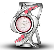 Women's Simulated Diamond Watch Fashion Watch Unique Creative Watch Chinese Quartz Alloy Band Casual Bangle Black White Blue Red Pink