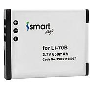 ismartdigi li70b 3.7v аккумулятор на 650mah для olympus li-70b fe-4040 4020 x940 d705 vg140 70b