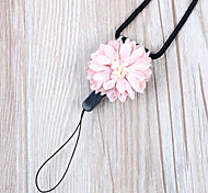 Cell Phone Strap Metal / Plating / Dry flower Phone Strap Polyester