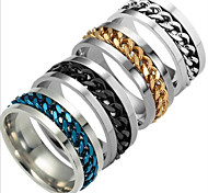 cheap -Men's Women's Band Ring Gold Black Silver Dark Blue Titanium Steel Others Fashion Daily Costume Jewelry