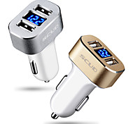 cheap -Car Charger Phone USB Charger Universal Fast Charge 2 USB Ports 3A DC 12V-24V For Cellphone For Tablet
