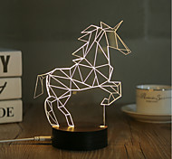 1 Set, Popular Home Acrylic 3D Night Light LED Table Lamp USB Mood Lamp Gifts, Horse