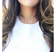 cheap -Women's Crystal Choker Necklace  -  Tassel Elegant Round Gold Necklace For Daily Casual Evening Party