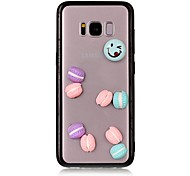 Case For Samsung Galaxy S8 Plus S8 Transparent Back Cover Food 3D Cartoon Hard Acrylic for S8 S8 Plus S7 edge S7