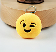 cheap -New Arrival Cute Emoji Face with Wink Key Chain Plush Toy Gift Bag Pendant