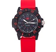 Муж. Повседневные часы Модные часы Наручные часы Китайский Кварцевый силиконовый Группа На каждый день Elegant Черный Белый Синий Красный