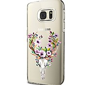 Case For Samsung Galaxy S8 Plus S8 Transparent Pattern Back Cover Animal Flower Soft TPU for S8 S8 Plus S7 edge S7 S6 edge plus S6 edge