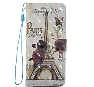 Case For Samsung Galaxy S8 Plus S8 Wallet Card Holder with Stand Flip Pattern Magnetic Full Body Eiffel Tower Hard TPU for S8 Plus S8 S7