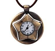 Муж. Карманные часы Китайский Механические, с ручным заводом Кожа Группа Винтаж Креатив Коричневый