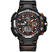 Men's Sport Watch Digital Watch Wrist watch Casual Watch Swiss Digital Calendar Dual Time Zones Stopwatch Silicone Rubber Band Unique