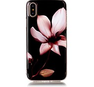 cheap -Case For Apple iPhone X iPhone 8 Ultra-thin Pattern Back Cover Flower Soft TPU for iPhone X iPhone 8 Plus iPhone 8 iPhone 7 Plus iPhone 7