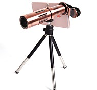 Orsda 20X Ultra Beast Magnifier Zoom Manual Focus Telephoto Telescope Phone Camera Lens Kit with High-end Tripod for iPhone xiaomi (Red Copper)