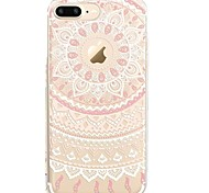 Case For iPhone X iPhone 8 Transparent Pattern Back Cover Lace Printing Soft TPU for iPhone X iPhone 8 Plus iPhone 8 iPhone 7 Plus iPhone