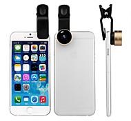 zomei 15mm 3-en-1 clip universal en el teléfono celular lente de la cámara kit lente ojo de pez / 2 en 1 lente macro&lente gran