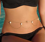 cheap -Belly Chain - Women's Gold Fashion Body Jewelry For Bikini / Beach