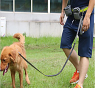 Dog Leash Hands Free Leash Trainer Reflective Portable Breathable Adjustable Solid Nylon Black Gray Red
