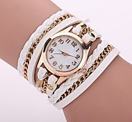 Women's Fashion Watch Bracelet Watch Casual Watch Chinese Quartz PU Band Bohemian Elegant Casual Black White Blue Red Brown Green Pink