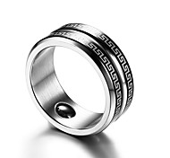 Men's Band Rings Simple Basic Stainless Steel Jewelry For Birthday Gift