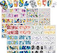 Недорогие -2 С рисунком Аксессуары Уход Ар деко / Ретро Наклейка для переноса воды Стикер Компоненты для самостоятельного изготовления Мультфильмы