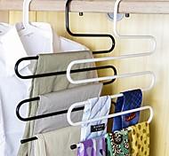 Недорогие -брюки из нержавеющей стали штаны вешалки штаны стеллажи пятислойные полотенца шарфы пространство случайный цвет