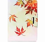 preiswerte -Hülle Für Samsung Galaxy Tab A 9.7 Ganzkörper-Gehäuse Tablet-Hüllen Landschaft Blatt Hart PU-Leder für