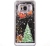 Недорогие -Кейс для Назначение SSamsung Galaxy S8 Plus S8 Движущаяся жидкость С узором Кейс на заднюю панель Рождество Твердый ПК для S7 edge S7 S6