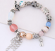Women's Strand Bracelet Fashion Alloy Flower Music Notes Jewelry For Daily