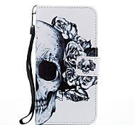 For Case Cover Card Holder Wallet with Stand Flip Magnetic Pattern Full Body Case Skull Hard PU Leather for Samsung Galaxy J7 (2017) J5