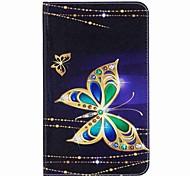cartera de titular de tarjeta de patrón de mariposa con estuche de pie flip magnético pu caso de cuero para Samsung Galaxy Tab e 8.0 t377