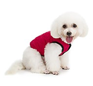 Dog Coat Vest Dog Clothes Casual/Daily Keep Warm Sports Solid Green Red Dark Blue