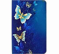 abordables -Coque Pour Samsung Galaxy Coque Intégrale Cas de la tablette Papillon Dur faux cuir pour Tab E 9.6
