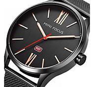 Men's Dress Watch Fashion Watch Wrist watch Japanese Quartz / Stainless Steel Band Black Silver Rose Gold