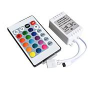 Недорогие -12v контроллер инфракрасный 24 ключа rgb 7 цветная лампа с жестким светом бар 3528 5050 модуль ir44 ключ пульт дистанционного управления