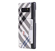 Case For Samsung Galaxy Note 8 Card Holder Back Cover Lines / Waves Hard PU Leather for Note 8