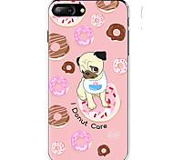 Кейс для Назначение Apple iPhone X iPhone 8 iPhone 8 Plus Ультратонкий С узором Задняя крышка С собакой Продукты питания Мягкий TPU для