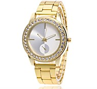 Men's Women's Fashion Watch Wrist watch Simulated Diamond Watch Chinese Quartz Metal Band Luxury Casual Silver Gold Rose Gold