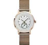 Men's Women's Chinese Quartz Chronograph Water Resistant / Water Proof Stainless Steel Leather Band Silver Gold Pink Rose Gold