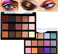 cheap -Pro 15 Color Matte&Shimmer Waterproof Eyeshadow Powder Kit Earth Tone Smoky Eye Shadow Makeup Cosmetic Palette