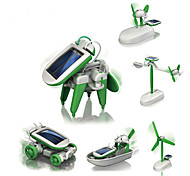 DIY KIT Robot Toys Aircraft Windmill Ship Robot Solar-Powered Kids Pieces