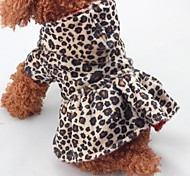 cheap -Christmas Dog Clothes Leopard Leopard Cotton Costume For Pets One Piece Keep Warm