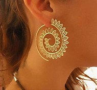 cheap -Women's Hoop Earrings - Statement Gold Silver Circle Earrings For Daily