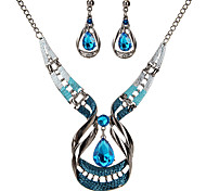 cheap -Women's Crystal Crystal Drop Jewelry Set Earrings / Necklace - Vintage / Statement Dark Blue For Party / Ceremony