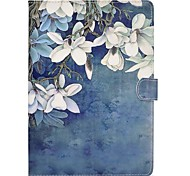 para suporte de cartão de capa de caso com suporte flip padrão magnético caixa de corpo inteiro flor dura PU couro para maçã ipad pro 10.5