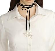 Жен. Ожерелья с подвесками В форме звезды Фланелет Сплав Сделай-сам Простой стиль Бижутерия Назначение Повседневные