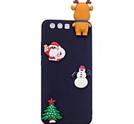 Кейс для Назначение P10 Lite P10 Матовое Своими руками Задняя крышка 3D в мультяшном стиле Рождество Мягкий TPU для Huawei P10 Lite