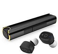 cheap -Mini S2 Stereo In-Ear Wireless Earphone with Mic IPX7 Waterproof Sweatproof Sports Headset with Magnetic Charging Box for iPhone Android