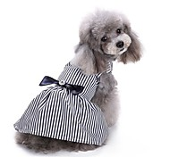 cheap -Cat Dog Coat Tuxedo Dress Dog Clothes Stripe Stripe Cotton Costume For Pets Party Casual/Daily Wedding Christmas